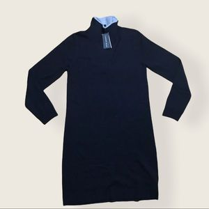 Premise Black Mock Neck Knit Sweater Dress NWT